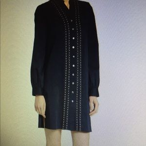 NWT Badgley Mischka shirt dress with pearls
